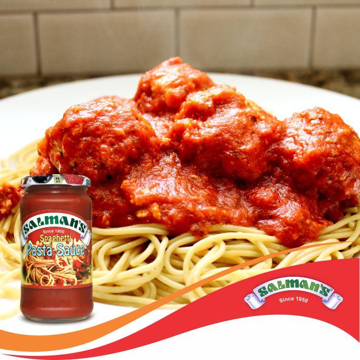 Salman's Pasta Sauce-Spaghetti and Mozzarella Meatballs